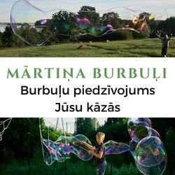 Mārtiņa Burbuļi LIELI ziepju burbuļi Tavās kāzās!