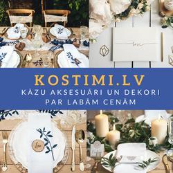Kostimi.lv - milzīgs kāzu aksesuāru un dekoru klāsts