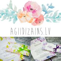 AgiiDizains - kāzu ielūgumi
