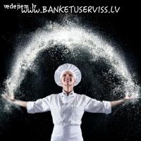 BANKETU SERVISS | Nodrošina kāzu banketu arī brīvā dabā