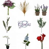 Ginlas - kvalitatīvi mākslīgie ziedi