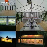 Izturīga, stabila, balta telts