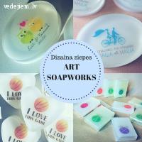 Kāzu viesu dāvanas - dizaina ziepes no ART SOAPWORKS