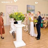 Kāzu ceremonija Jelgavas pils svinīgajā zālē