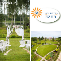 Laulību ceremonija viesnīcas Ezeri - Mīlestības dārzā