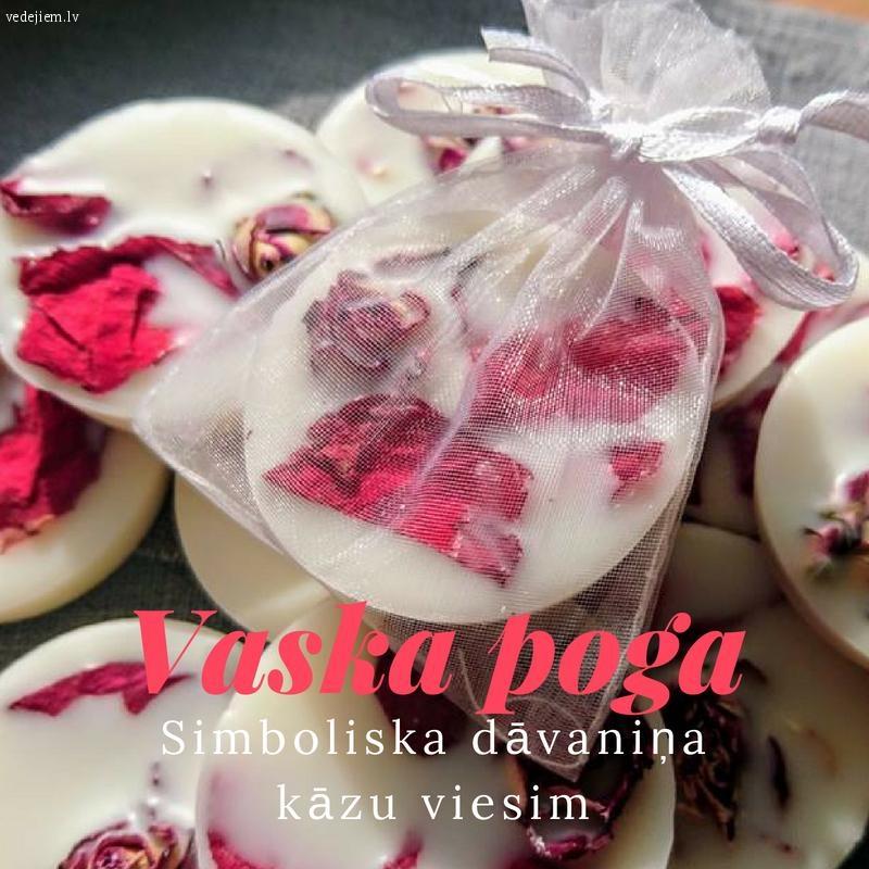 Pateicības dāvaniņa kāzu viesim | Vaska poga