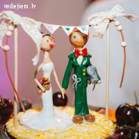 Personalizētas kāzu kūku figūriņas