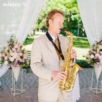 Elmārs Rudzītis - spēlēju saksofons kāzās