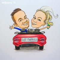 Valta Klints karikatūras | Karikatūra kā dāvana kāzās