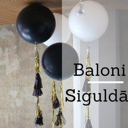 Baloni ar hēliju | Hēlija Baloni | Baloni kāzās | Baloni Siguldā | Balonu dekorācijas | Baloni ballītei