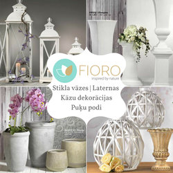 FIORO | Stikla vāzes, svečturi, laternas | Kāzu dekorācijas, puķu podi