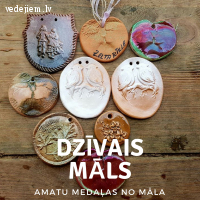 Amata medaļas, amatu zīmes no māla