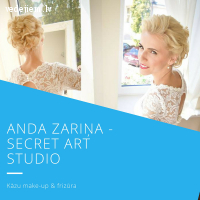 Anda Zariņa - Secret ART Studio - kāzu grims, frizūras