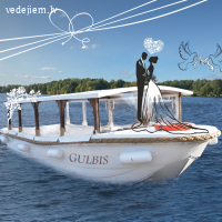 Kāzu kuģītis laulību ceremonijai | kuģītis Gulbis