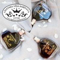 Kāzu viesu dāvana | Liķieris sirsniņu pudelītē