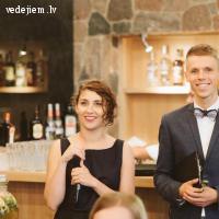 Krišjānis Berķis un Elīna Geida - kāzu rīkotāji un vadītāji
