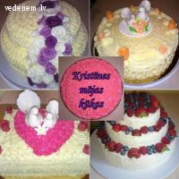 Kristīnes mājas kūkas | Kāzu kūkas Rīgā