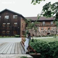 Nitaures Dzirnavas | Romantiska terase kāzu svinībām ezera krastā