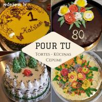 Pour tu - tortes, kūciņas, cepumi | Kāzu kūkas Rūjienā