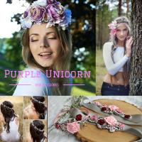 Ziedu matu rotas līgavai | Purple Unicorn
