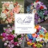 Viss kāzām | Līgavu pušķis | Mašīnas dekori | Ziedu salons Aina