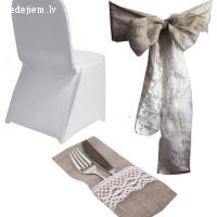 WhiteDeco - lina krēslu lentas un kāzu inventāra noma