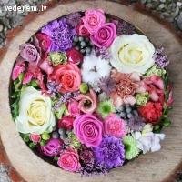Ziedu sēta | Skaisti līgavas pušķi no svaigiem ziediem